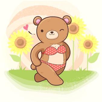 Медведь с бигини