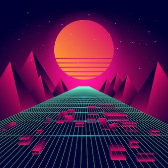 未来の背景のベクトル