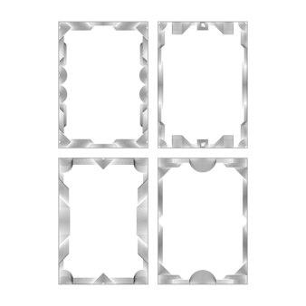 Черно-белые абстрактные коллекции дизайна кадров