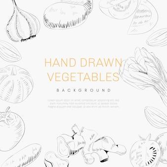 手描き野菜背景