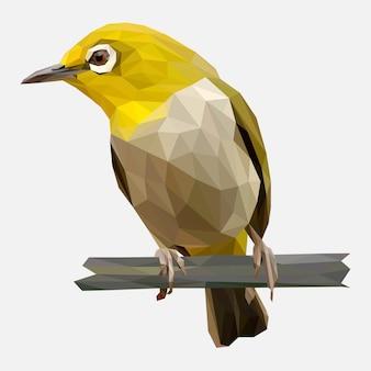 黄色の鳥の低ポリ