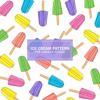 夏デザインのアイスクリームパターン