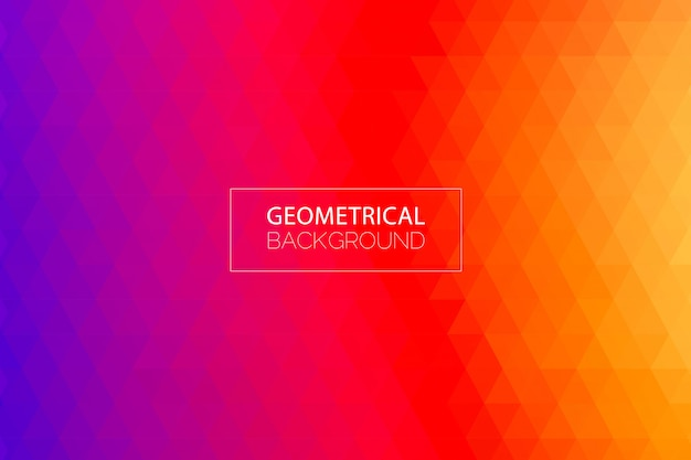 モダンな幾何学的なパープルオレンジ色の背景