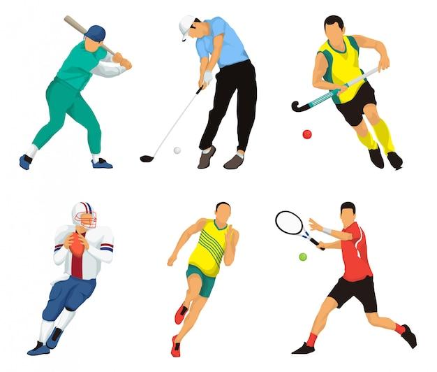 Популярные виды спорта векторные иллюстрации