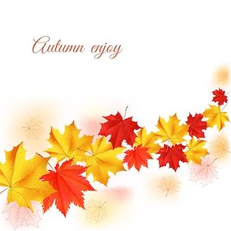 Осенний горизонтальный баннер.