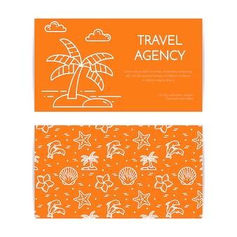 Путешествие горизонтальный баннер пальмы на острове