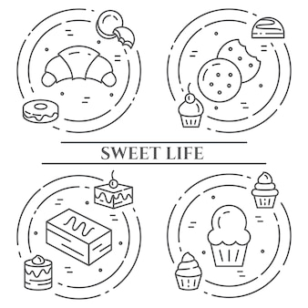 ケーキとクッキーのテーマバナー