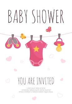 ベビーシャワーの招待