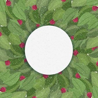 Печать летних листьев фон векторной графики зеленый