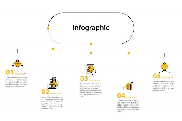 インフォグラフィック要素デザイン
