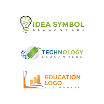 Современный и минималистский шаблон логотипа