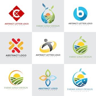 Набор современных шаблонов дизайна логотипа