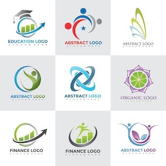 現代のロゴデザインテンプレートセット