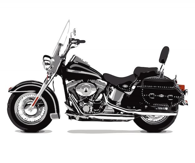 オートバイバイクベクトルイラストフラットスケッチ