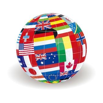 Глобус земли карта вектор дизайн иллюстрации шаблон