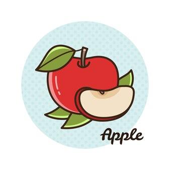 Векторная иллюстрация яблока.