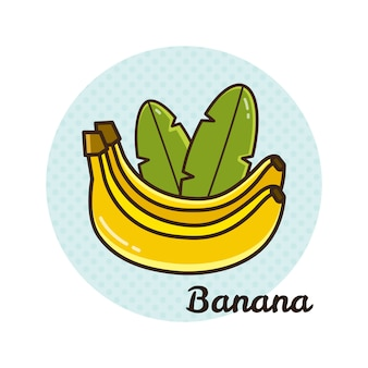 Векторная иллюстрация банана.