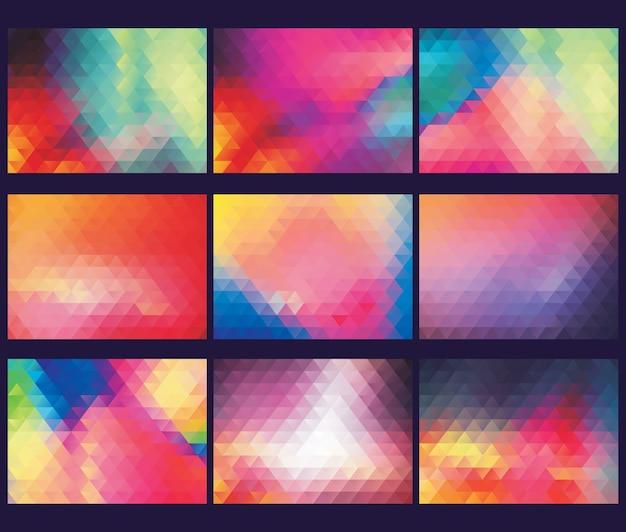多彩な多角形の抽象的な背景