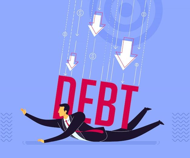 借金に押される