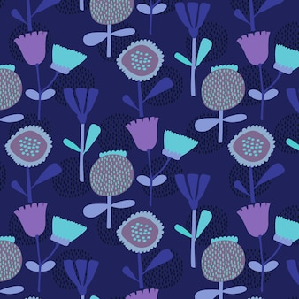 手描きの花模様の背景