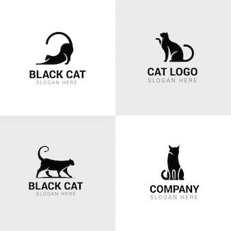 Набор логотипов кошек