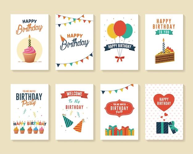 Набор поздравительных открыток и поздравительных открыток