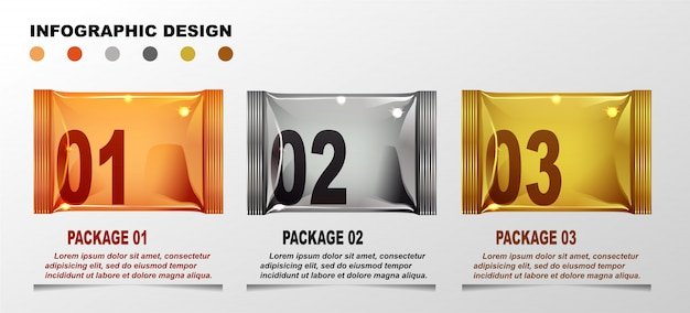 インフォグラフィックデザインテンプレート。