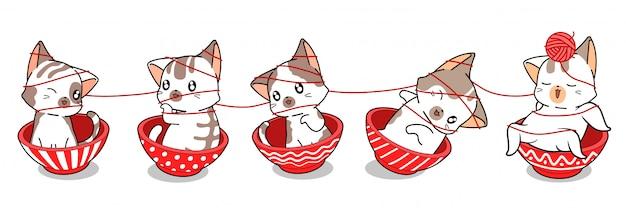 Иллюстрация очаровательны кошек