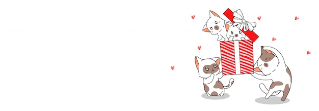 Знамена кошачьих персонажей поздравляют с днем рождения