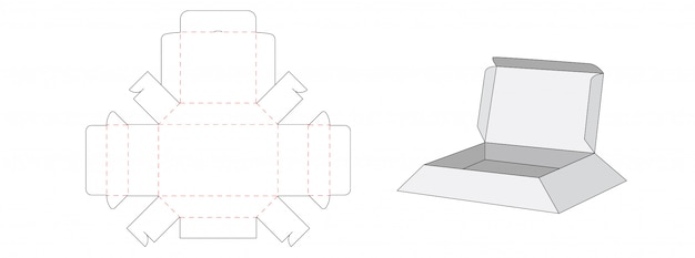 Коробка упаковочная вырезанная по шаблону дизайна