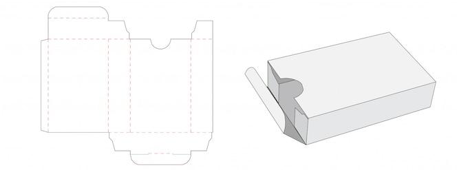 Жестяная коробка упаковки высечки шаблон дизайна
