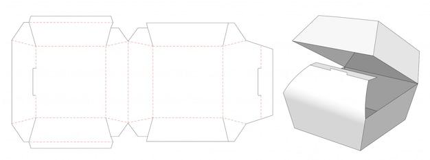 ハンバーガーパッケージダイカットテンプレートデザイン