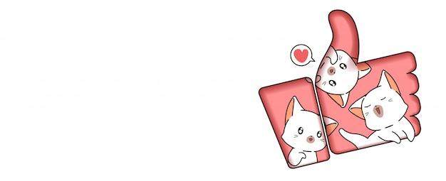 Симпатичные кошки внутри понравившейся иллюстрации