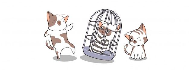 かわいい猫が刑務所で逮捕される