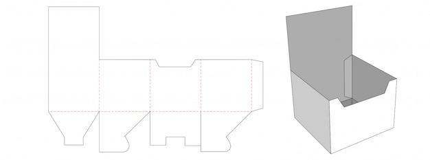 段ボールのディスプレイボックスダイカットテンプレートデザイン