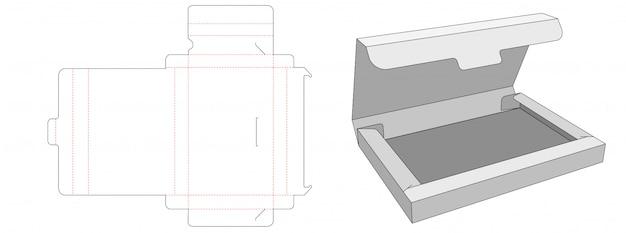 Без клейкой коробки документа высекают шаблон дизайна