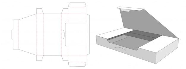 Упаковочная коробка с шаблоном высечки окна