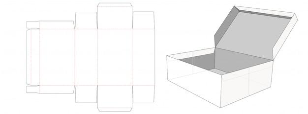 Ящик для хранения с крышкой, вырезанный по шаблону