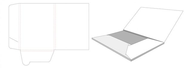 Картонная папка высечки шаблон дизайна