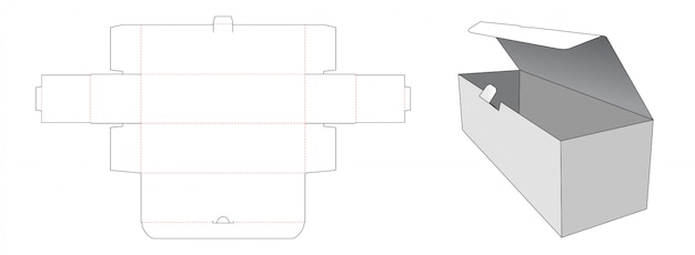 ロック可能な段ボール包装ボックスダイカットテンプレート