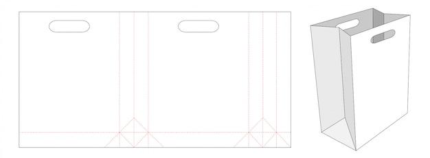 Бумажный пакет с держателем для шаблона высечки