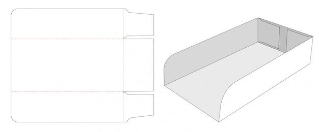 段ボールトレイダイカットテンプレートデザイン