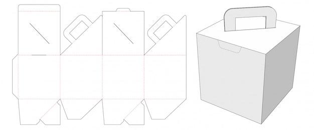 Картонная коробка с шаблоном для высечки