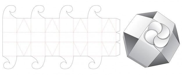 Складной восьмиугольный коробчатый вырезанный шаблон