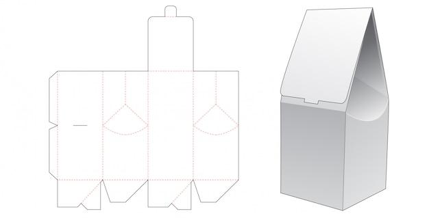 Бумажный подарочный пакет высечки шаблон дизайна