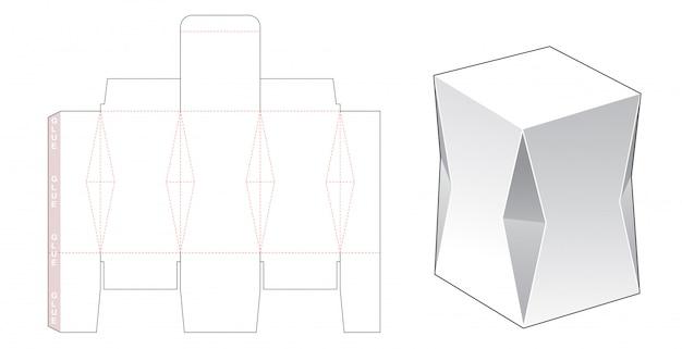 Шаблон для фасовки подарочной коробки с фаской