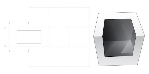Подарочная коробка для кексов с окном