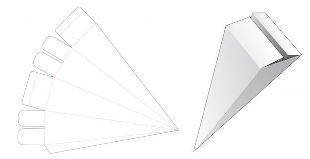 三角形のギフトボックスダイカットテンプレート