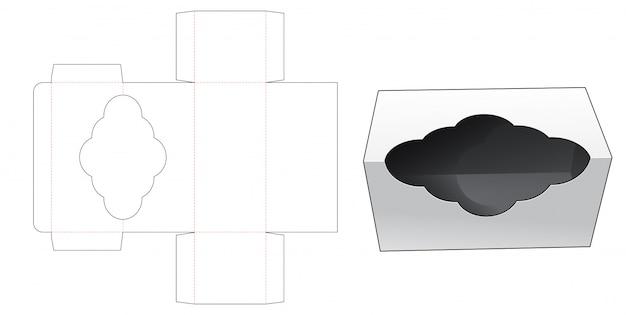Подарочная коробка с вырезанным изогнутым шаблоном