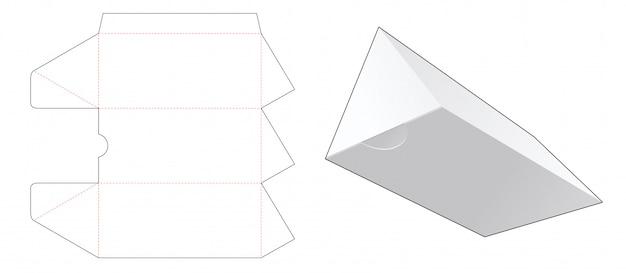Треугольная подарочная коробка высечки шаблон